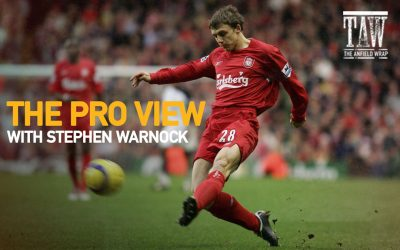 Stephen Warnock The Anfield Wrap's regular special guest on The Pro View show