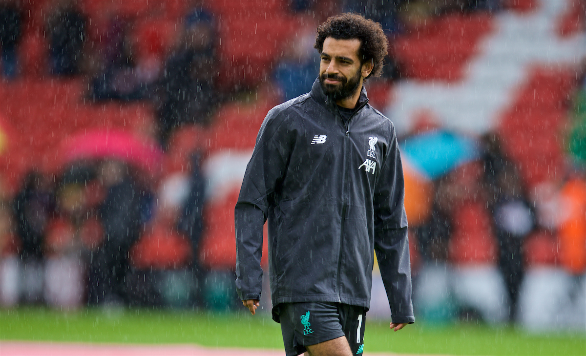 SHEFFIELD, ENGLAND - Thursday, September 26, 2019: Liverpool's Mohamed Salah during the pre-match warm-up before the FA Premier League match between Sheffield United FC and Liverpool FC at Bramall Lane. (Pic by David Rawcliffe/Propaganda)