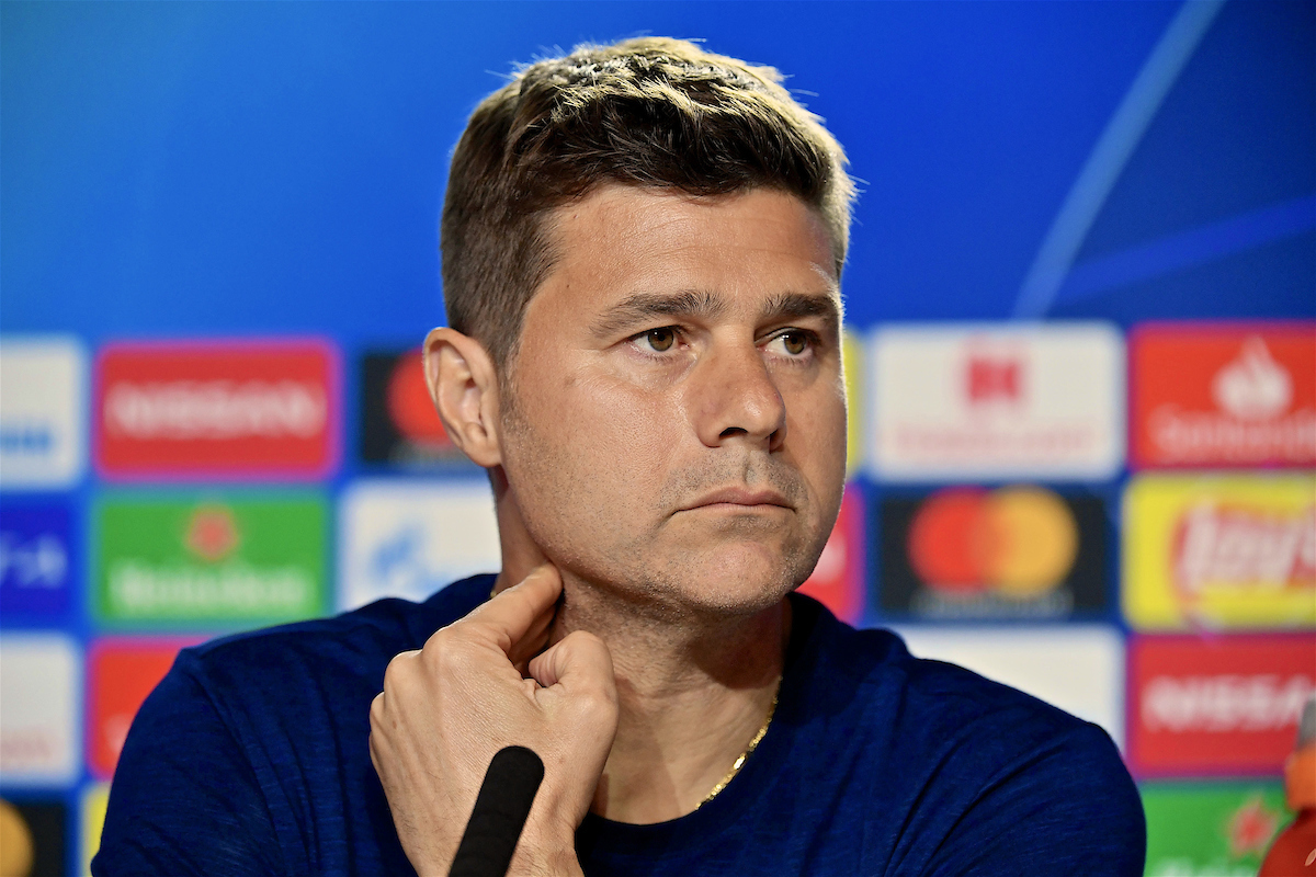 MADRID, SPAIN - Friday, May 31, 2019: Tottenham Hotspur's manager Mauricio Pochettino during a press conference ahead of the UEFA Champions League Final match between Tottenham Hotspur FC and Liverpool FC at the Estadio Metropolitano. (Pic by Handout/UEFA)