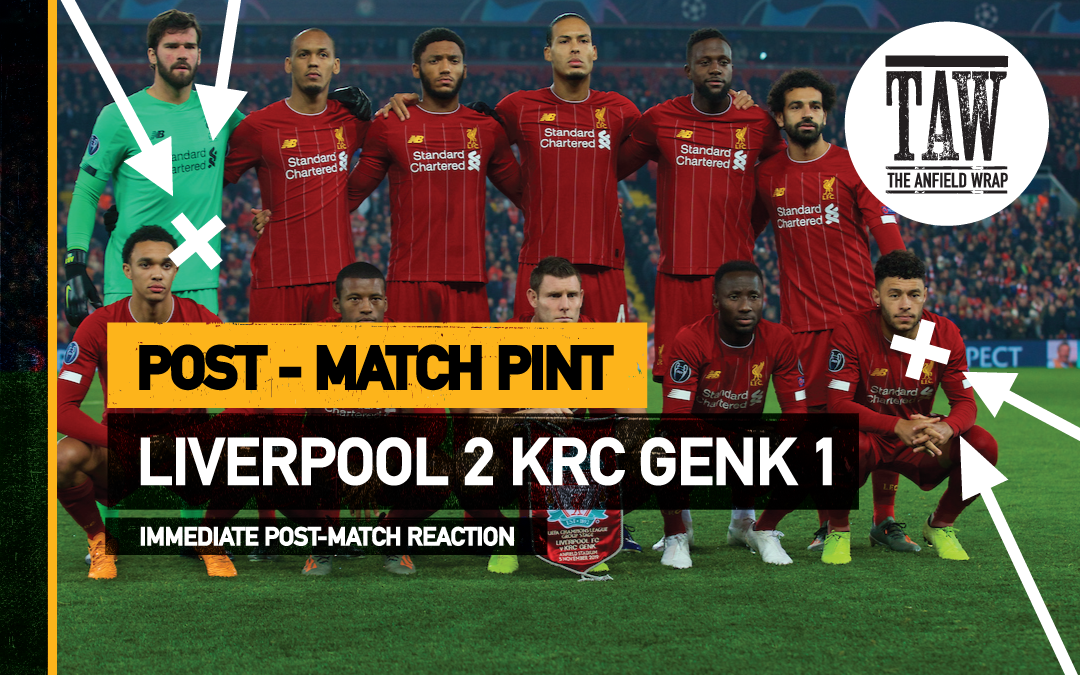Liverpool 2 KRC Genk 1 | The Post-Match Pint