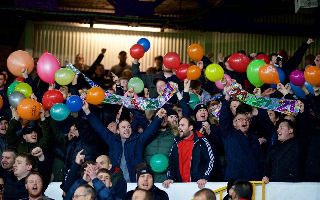 Liverpool Fans Merseyside Derby Balloons