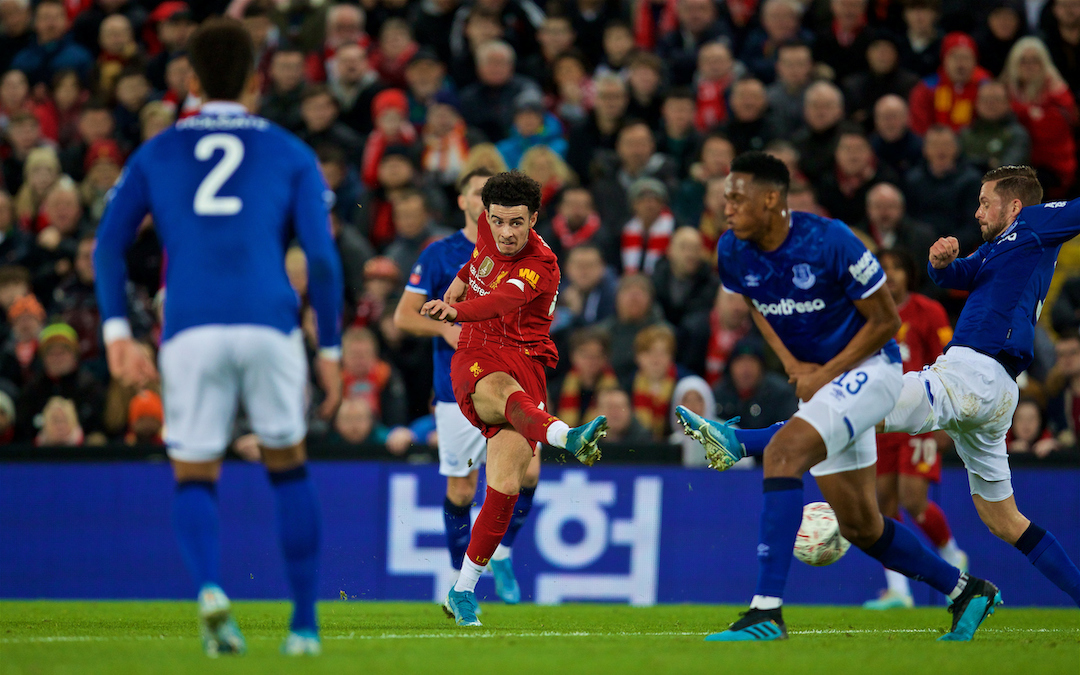 LIVERPOOL, ENGLAND - Sunday, January 5, 2020: Liverpool's Curtis Jones during the FA Cup 3rd Round match between Liverpool FC and Everton FC, the 235th Merseyside Derby, at Anfield. (Pic by David Rawcliffe/Propaganda)