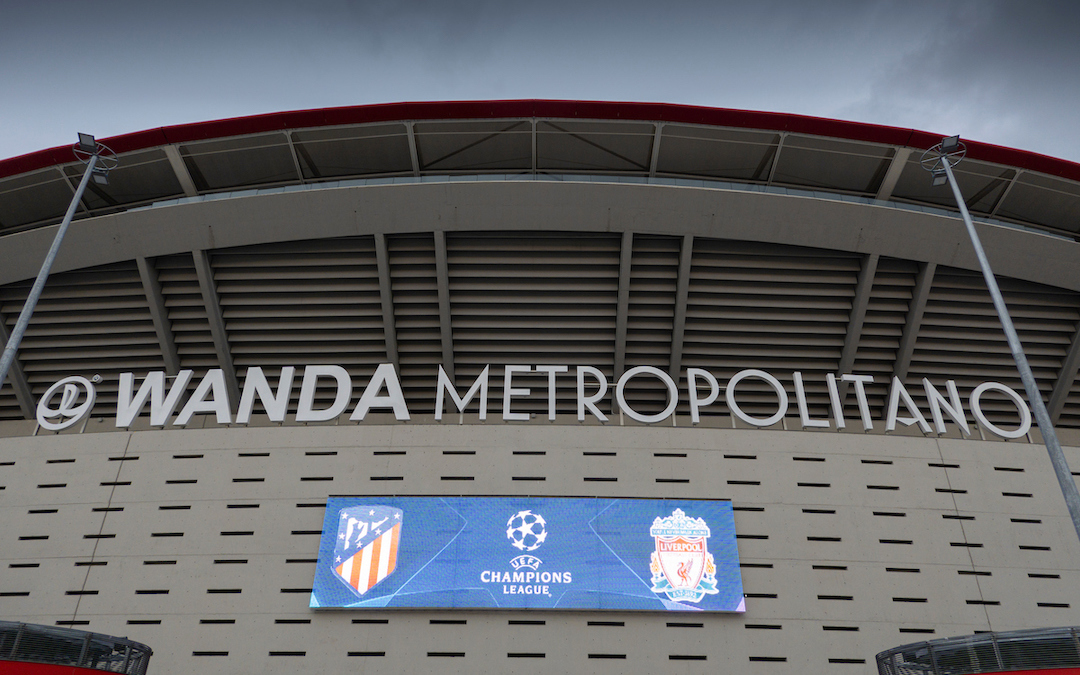 MADRID, SPAIN - Monday, February 17, 2020: An exterior view of the Estadio Estadio Metropolitano ahead of the UEFA Champions League Round of 16 1st Leg match between Club Atlético de Madrid and Liverpool FC. (Pic by David Rawcliffe/Propaganda)