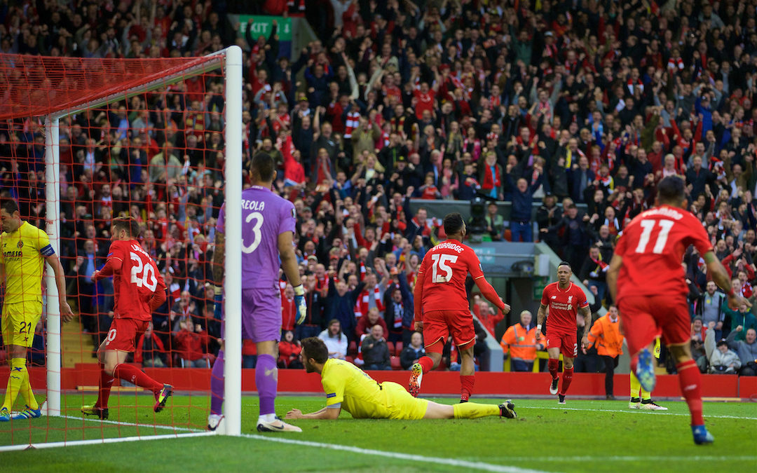 My Game Of 2015-16: Liverpool 3 Villarreal 0