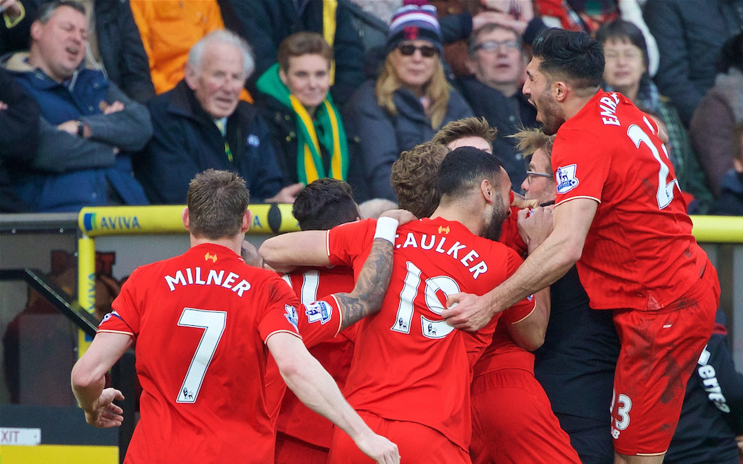 My Game Of 2015-16: Norwich City 4 Liverpool 5
