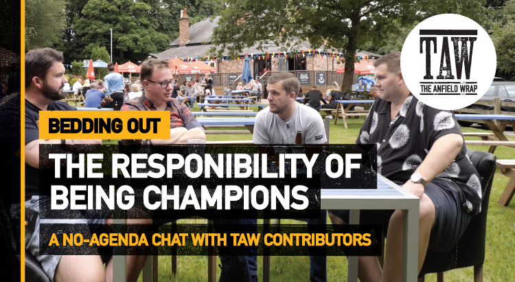The Responsibility Of Being Champions   Bedding In (Out)