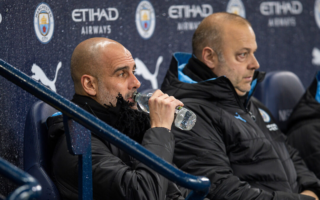 Manchester City's manager Pep Guardiola