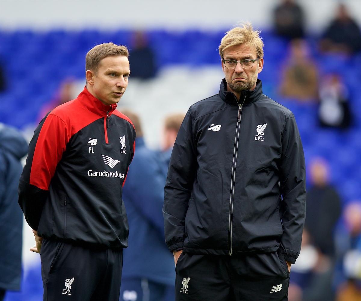 Jurgen Klopp and Pep Lijnders for Liverpool