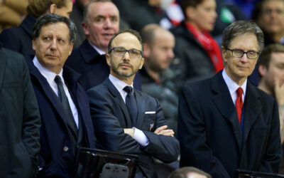 Liverpool's co-owner and NESV (FSG) Chairman Tom Werner, Director Michael Gordon and owner John W. Henry