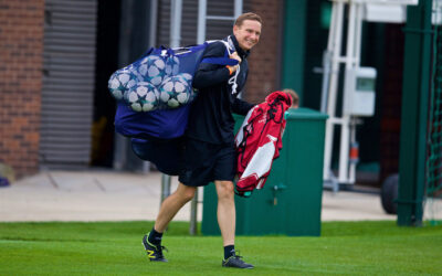 Pepijn Lijnders during a training session at Melwood
