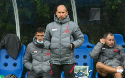 Liverpool's Under-18's coach Marc Bridge-Wilkinson