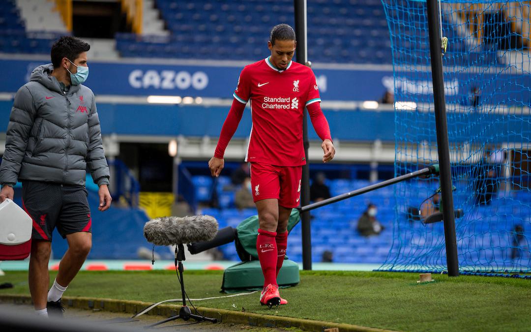 Virgil Van Dijk Injured vs Everton