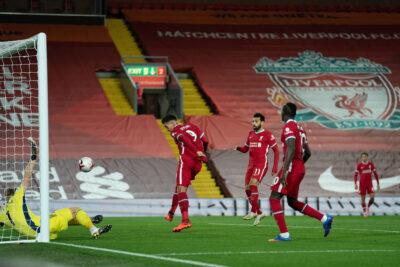 Liverpool vs Sheffield United Firmino Header