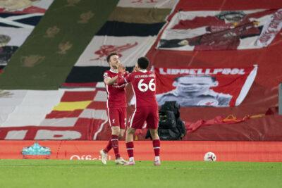 Diogo Jota and Mohamed Salah celebrate Jota's goal