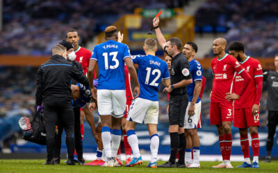 Richarlison Sees Red during Merseyside Derby