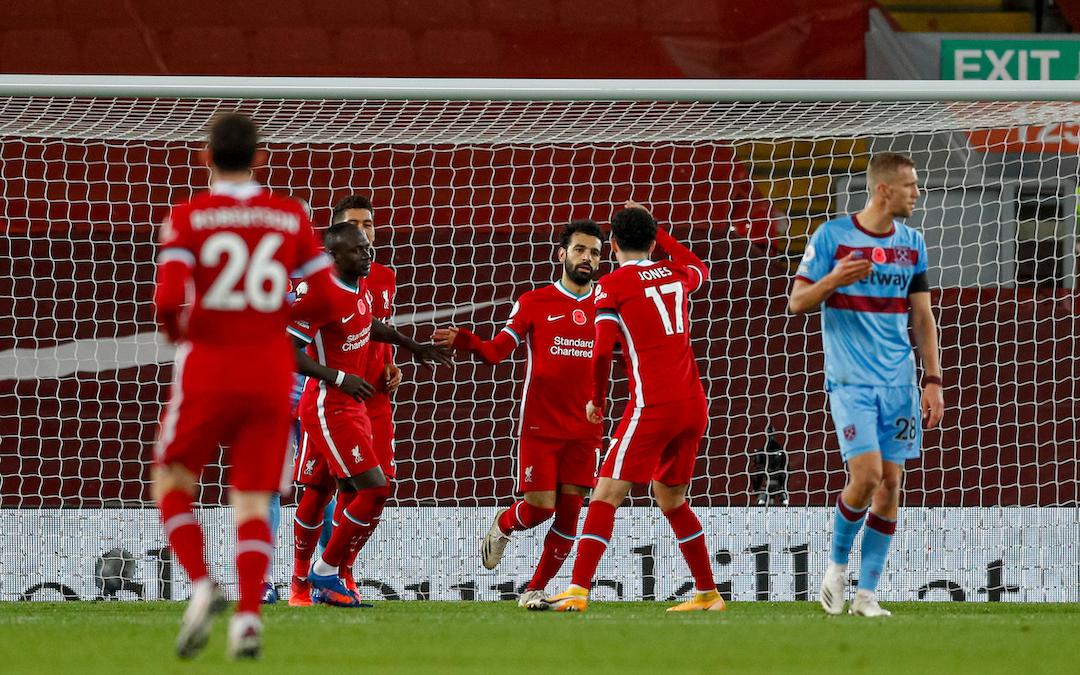 Liverpool celebrate vs West Ham