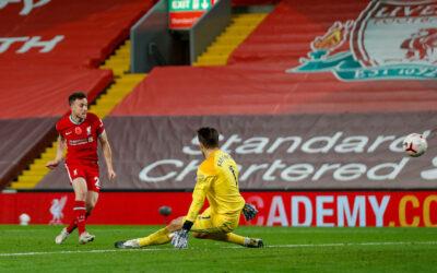 Diogo Jota scores for Liverpool