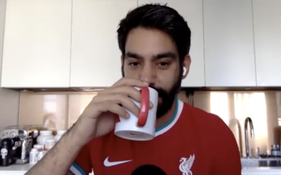 Liverpool fan and actor Rahul Kohli from Netflix series The Haunting Of Bly Manor