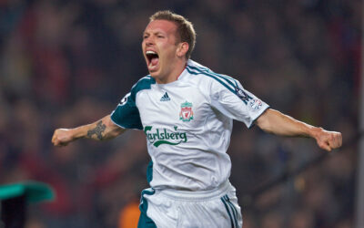 Liverpool Craig Bellamy Scores at Nou Camp