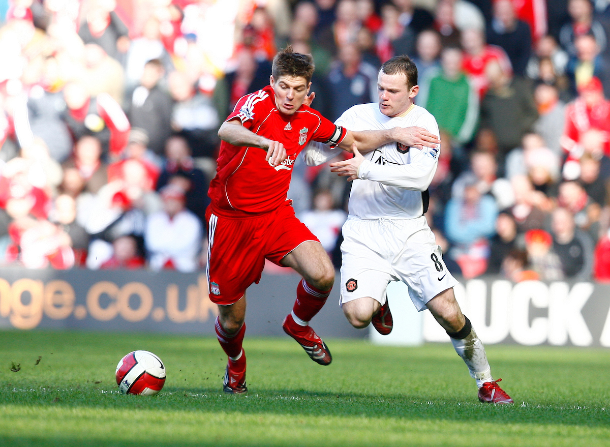 Liverpool's captain Steven Gerrard and Manchester United's Wayne Rooney