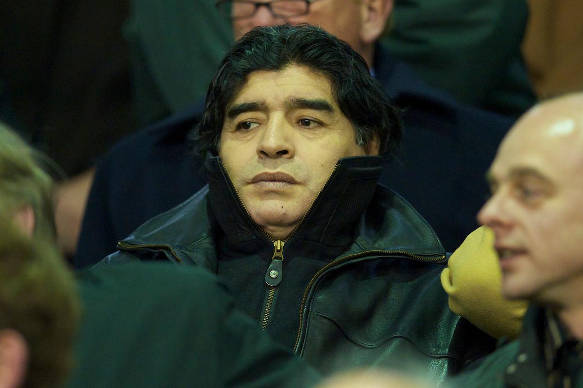 Diego Maradona at Anfield