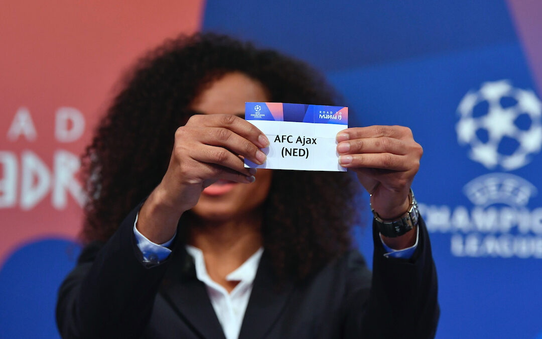Ajax in the draw for the UEFA Champions League
