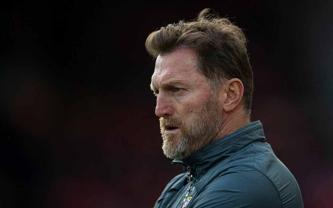 Southampton's manager Ralph Hasenhüttl during Premier League match vs Liverpool FC