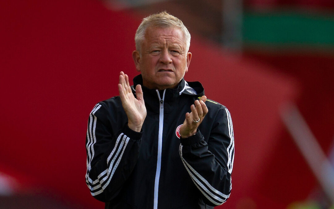 Sheffield United's manager Chris Wilder