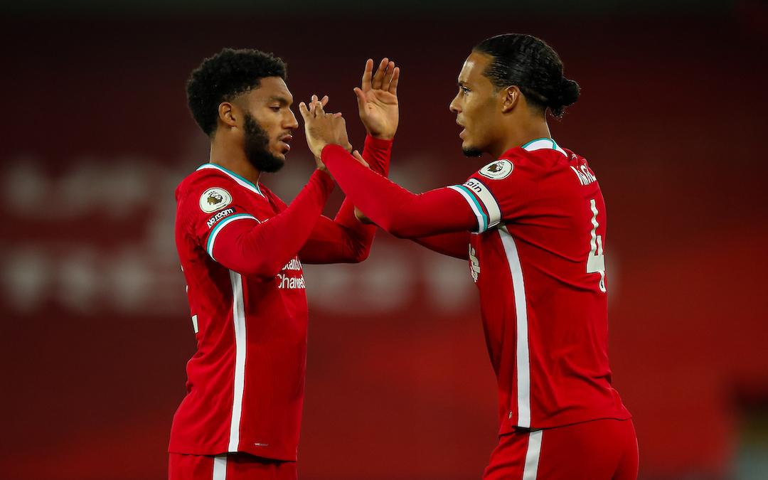 Liverpool's injured stars Joe Gomez and Virgil van Dijk