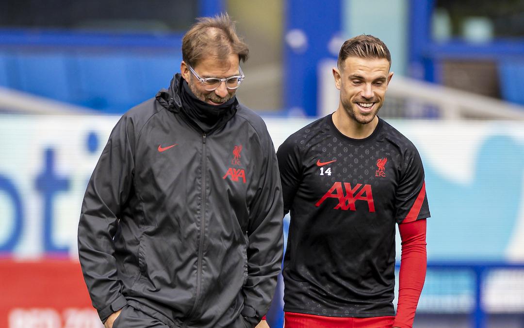 Liverpool's manager Jürgen Klopp and captain Jordan Henderson