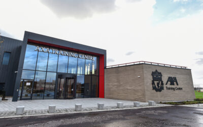 Liverpool's new first team training complex in Kirkby, the AXA Training Centre