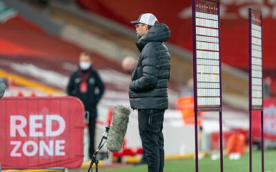 Liverpool's manager Jürgen Klopp gives a television interview