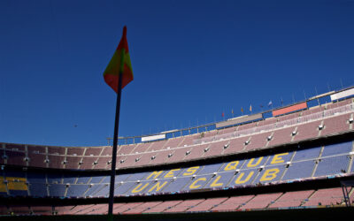 A general view of FC Barcelona's stadium the Camp Nou
