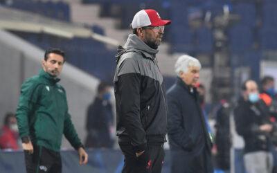 Liverpool manager Jürgen Klopp during the Champions League Group D match vs Atalanta