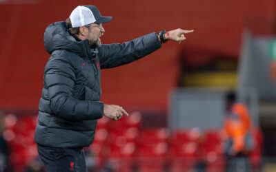 Liverpool's manager Jürgen Klopp during the UEFA Champions League Group D match between Liverpool FC and Atalanta BC at Anfield