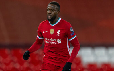 Liverpool's Divock Origi during the UEFA Champions League Group D match between Liverpool FC and Atalanta BC at Anfield