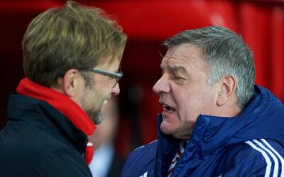Liverpool manager Jürgen Klopp with West Brom manager Sam Allardyce