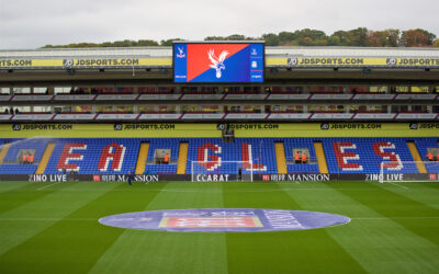 Crystal Palace's Selhurst Park ground before the FA Premier League match against Liverpool