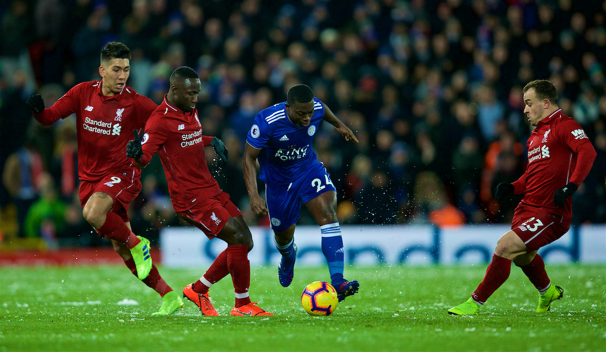 Liverpool's Naby Keita and Xherdan Shaqiri