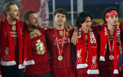 Liverpool's Caoimhin Kelleher, Neco Williams and Curtis Jones