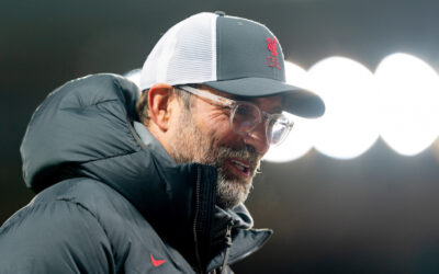 Liverpool's manager Jürgen Klopp gives an interview at Anfield