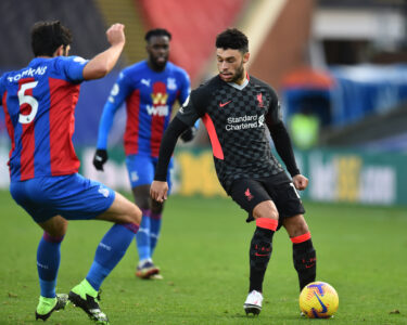 Liverpool's Alex Oxlade-Chamberlain during the FA Premier League match between Crystal Palace FC and Liverpool FC at Selhurst Park