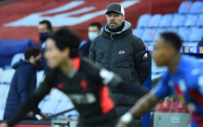 Liverpool's manager Jürgen Klopp during the FA Premier League match between Crystal Palace FC and Liverpool FC at Selhurst Park