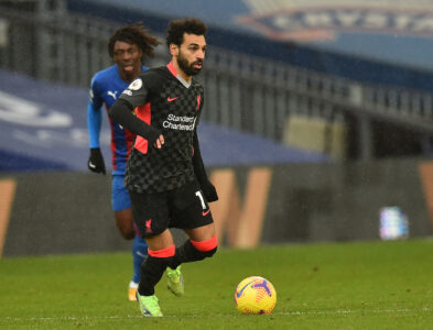 Liverpool's Mohamed Salah during the FA Premier League match between Crystal Palace FC and Liverpool FC at Selhurst Park