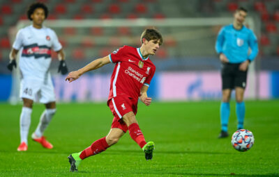Liverpool's Leighton Clarkson during the UEFA Champions League Group D match between FC Midtjylland and Liverpool FC at the Herning Arena