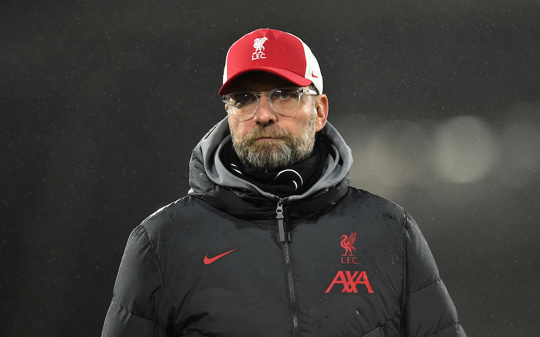 Liverpool's manager Jürgen Klopp after the FA Premier League match against Fulham FC