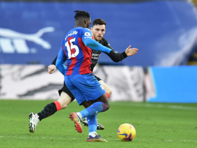 Liverpool's Andy Robertson during the FA Premier League match between Crystal Palace FC and Liverpool FC at Selhurst Park