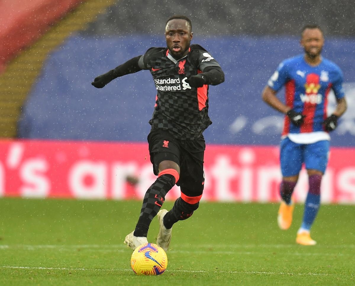 Liverpool's Naby Keita during the FA Premier League match between Crystal Palace FC and Liverpool FC at Selhurst Park