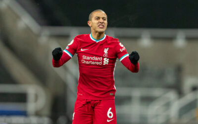 Liverpool's Thiago Alcantara during the FA Premier League match between Newcastle United FC and Liverpool FC at St James' Park