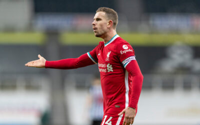 Liverpool's captain Jordan Henderson during the FA Premier League match between Newcastle United FC and Liverpool FC at St James' Park